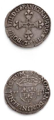Huitième d'écu, 1er type. 1616. Saint-Lô....