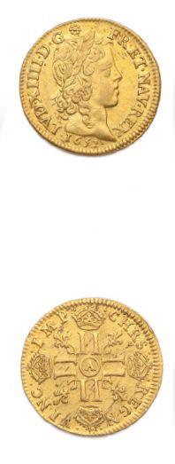 Louis d'or à la mèche longue. 1652. Paris....