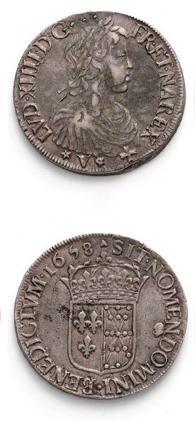 Écu de Navarre à la mèche longue. 1648. Saint-Palais....