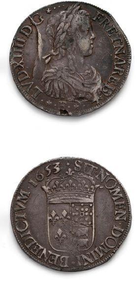 Écu de Béarn à la mèche longue. 1653. Pau....