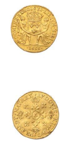 Lis d'or. 1656. Paris. D. 1424. Petits chocs...