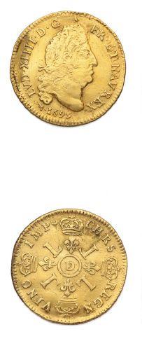 Louis d'or aux quatre L. 1695. Lyon. Réf....