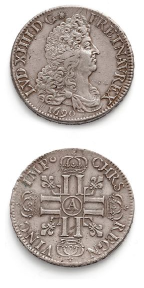 Écu aux huit L, 1er type. 1690. Paris. Flan...