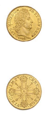Louis d'or aux huit L et aux insignes. 1703....