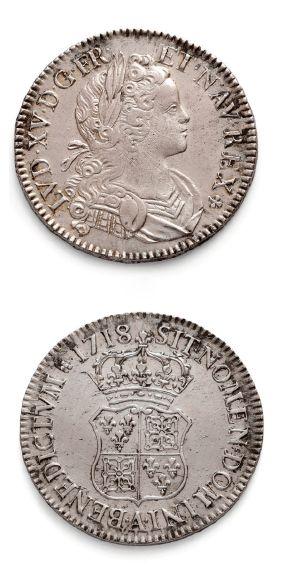 Écu de Navarre. 1718. Paris. D. 1657. TTB...