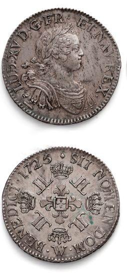 Écu aux huit L. 1725. Lille. D. 1670. Presque...