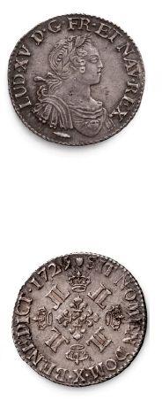 Quart d'écu aux huit L. 1725. Amiens. Huitième...