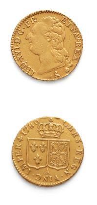 Louis d'or au buste nu. 1786. Paris. D. 1707....