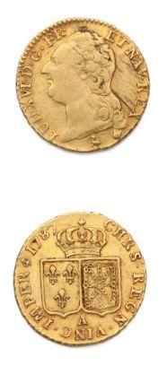 Louis d'or au buste nu. 1787. Paris. D. 1707....