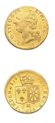 Louis d'or au buste nu. 1790. Marseille....