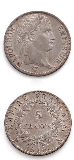 PREMIER EMPIRE (1840-1814) 5 francs. 1814....