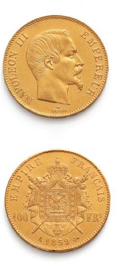 SECOND EMPIRE (1852-1870) 100 francs or Napoléon...