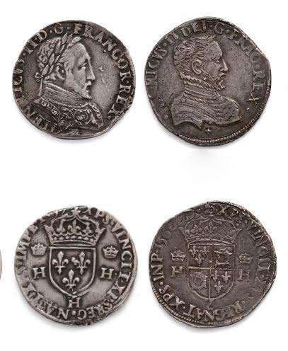 HENRI II - FRANÇOIS II: Teston: 5 exemplaires...