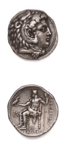 Tétradrachme. 17,12 g. Sidé. Tête d'Héraclès...