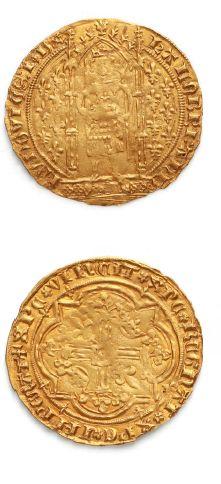 Louis Ier d'Anjou (1382-1384) Franc à pied,...