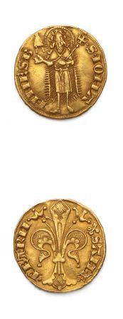COMTAT VENAISSIN: Jean XXII (1316-1334) Florin...