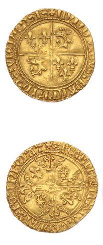 Louis II (1440-1455) Écu d'or. D. 2512. TTB...