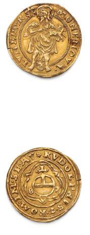 Lunebourg Gulden or au nom de Rudolf. 1587....