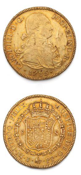 BOLIVIE: Charles IV (1788-1808) 8 escudes...