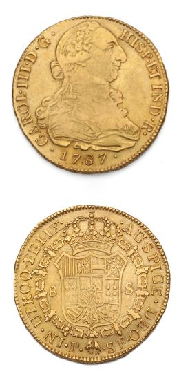 COLOMBIE: Charles III (1759-1788) 8 escudes...