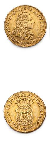 ESPAGNE: Philippe V (1700-1746) 2 escudos...