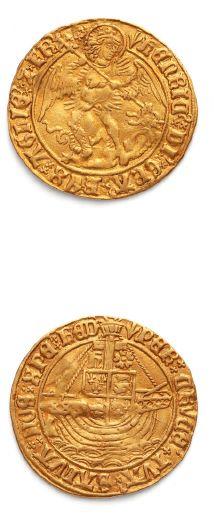Henri VII (1485-1509) Ange d'or. S. 2183....