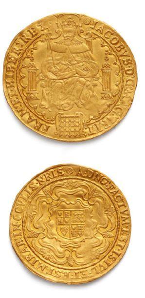 Jacques Ier (1603-1625) Rose ryal or. N....