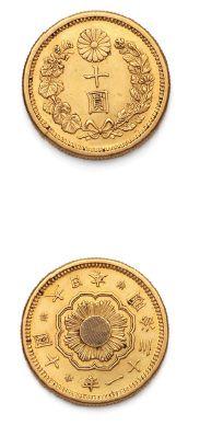 JAPON: Mutsuhito (1867-1912) 10 yen or. Fr....