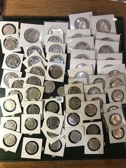 100 francs argent Panthéon. 50 francs argent...