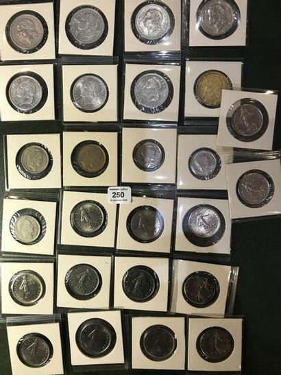 Lot de 26 monnaies françaises variées du...