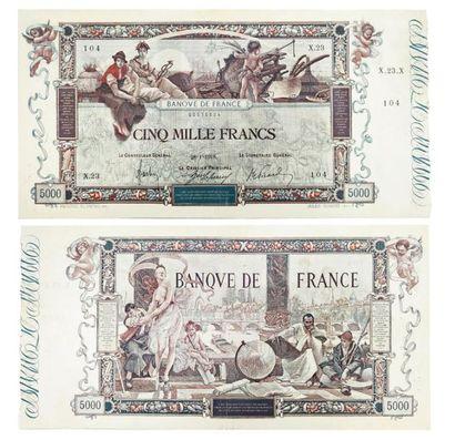 BANQUE DE FRANCE Billet de 5.000 francs,...