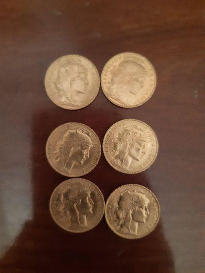 20 francs: six exemplaires: Troisièmes...
