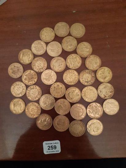 20 francs or: 35 exemplaires. 2ème République:...