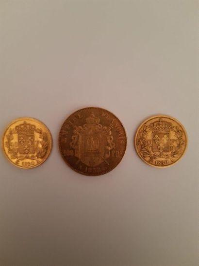 40 francs or: 2 exemplaires 1830 Paris (Charles...