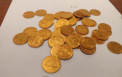 20 francs or: 50 exemplaires. 3ème République...