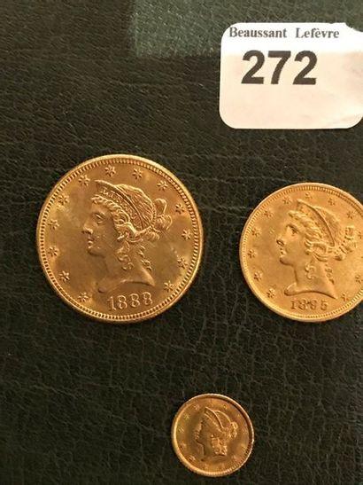 10 dollars type Liberté 1888.S; 5 dollars...