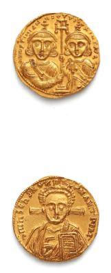 JUSTINIEN II (705-711) Solidus. Constantinople....