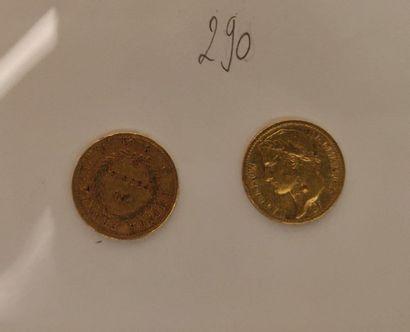 20 francs 1er Empire (1810 A et 1811 A) :...