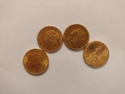 Etats-Unis : 20 dollars (1865, 1897, 1904,...
