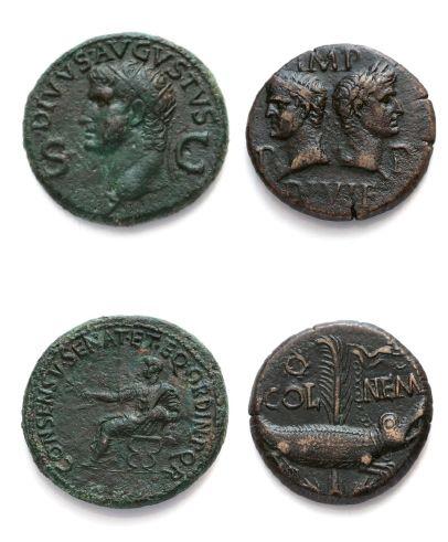 Moyen bronze: 3 exemplaires. Auguste (2 ex.)...
