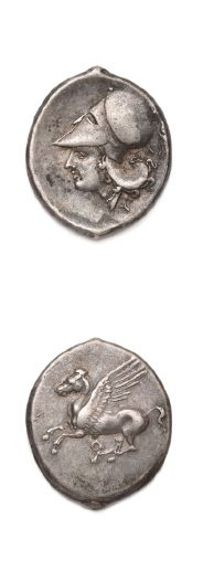 CORINTHIE: Corinthe (345-307 av. J.-C.) Statère....