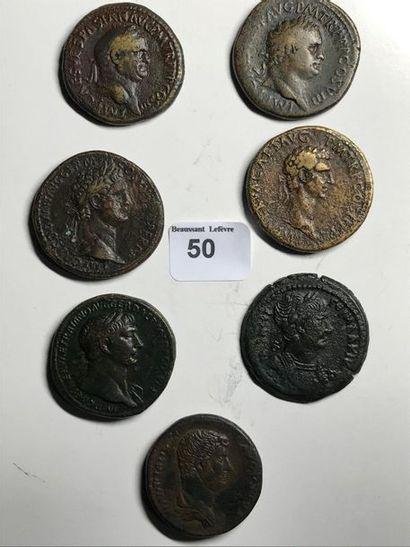 Sesterce: 7 exemplaires. Vespasien - Titus...