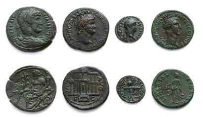 Moyen bronze: 8 exemplaires. Néron - Vitellius...