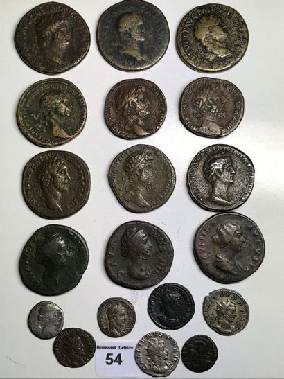 Sesterce: 12 exemplaires de Néron à Faustine...