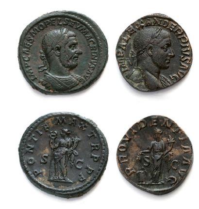 Sesterce: 11 exemplaires. Julia Domna - Caracalla...