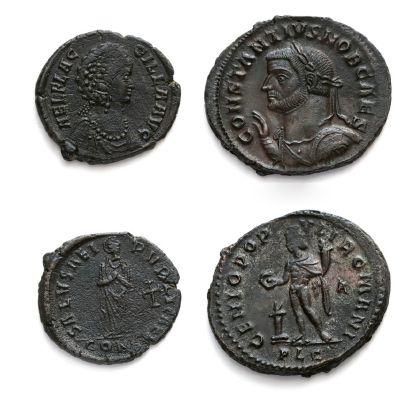 Antoninien et petit bronze: 24 exemplaires...