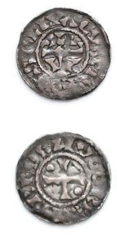 HUGUES CAPET (987-996) Denier de Beauvais....
