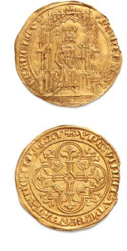 Double d'or. 6,68 g. D. 253. Léger manque...