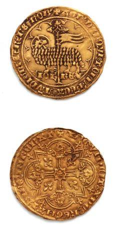 Mouton d'or. 4,66 g. D. 291. Légère trace...
