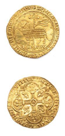 Mouton d'or. 4,60 g. D. 291. Trace sur la...